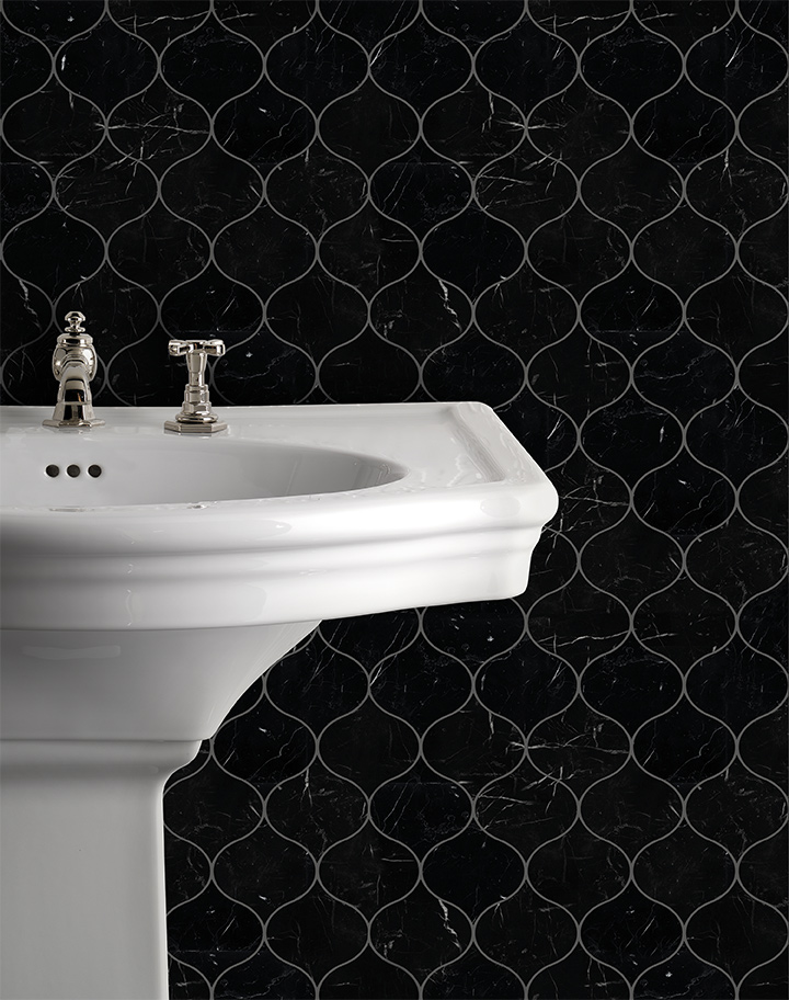 Élite wall covering 16, New Etoile basin